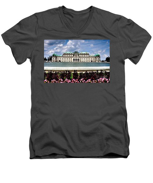 Men's V-Neck T-Shirt featuring the photograph Belvedere Palace by Joe  Ng