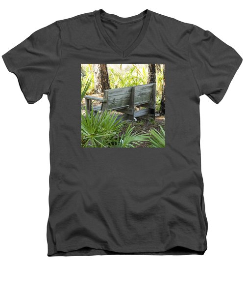 Bench In Nature Men's V-Neck T-Shirt