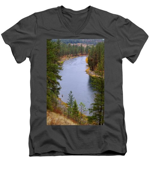 Bend In The River Men's V-Neck T-Shirt