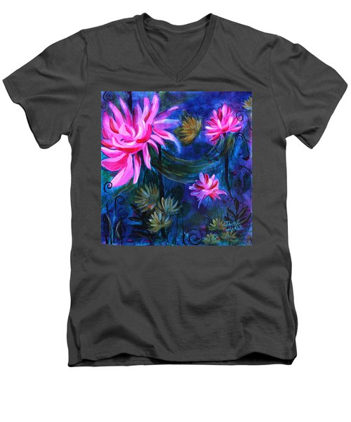 Beneath Dark Lotus Waters Men's V-Neck T-Shirt