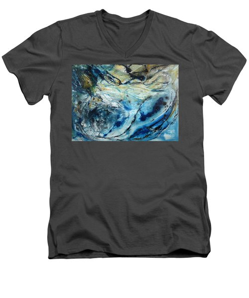 Beneath The Surface Men's V-Neck T-Shirt by Valerie Travers