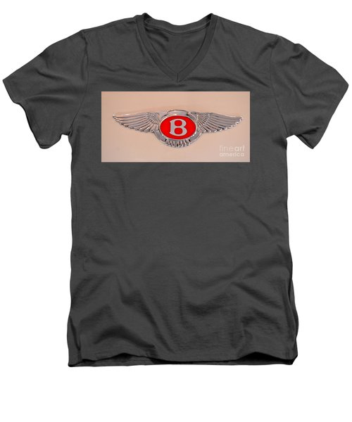Bentley Emblem Men's V-Neck T-Shirt