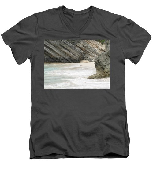 Bermuda Beach Men's V-Neck T-Shirt