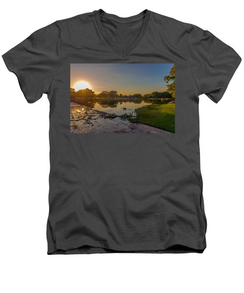 Berry Creek Sun Set Men's V-Neck T-Shirt