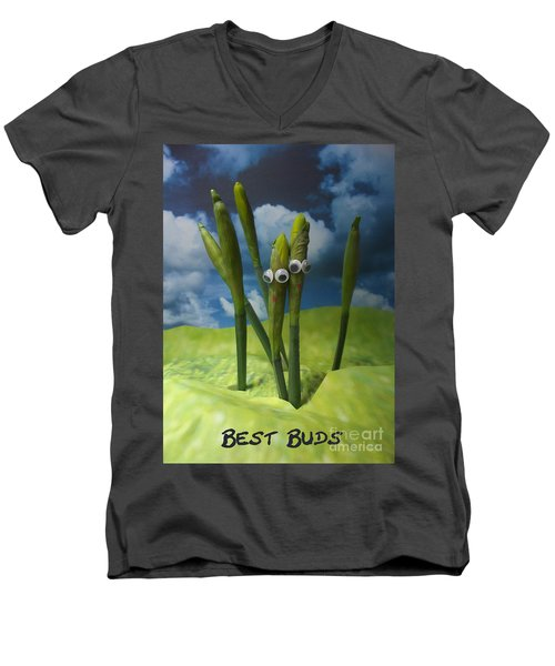 Best Buds Men's V-Neck T-Shirt