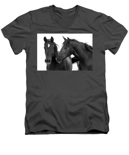 Best Buds Wild Mustang Men's V-Neck T-Shirt