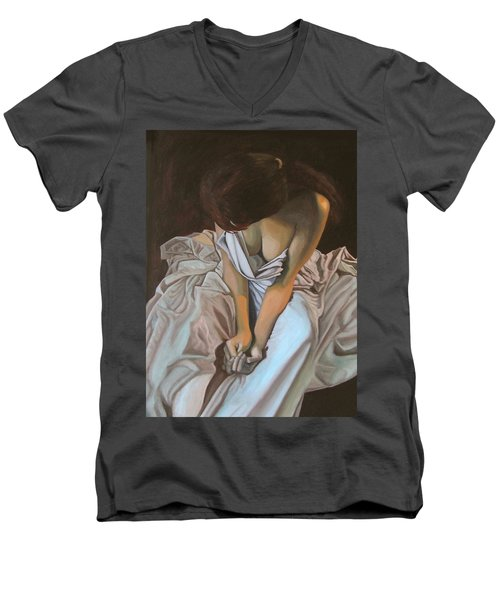 Between The Sheets Men's V-Neck T-Shirt by Thu Nguyen