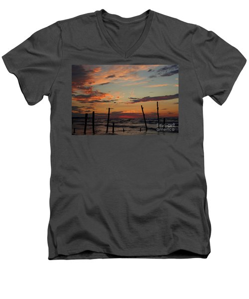 Men's V-Neck T-Shirt featuring the photograph Beyond The Border by Barbara McMahon