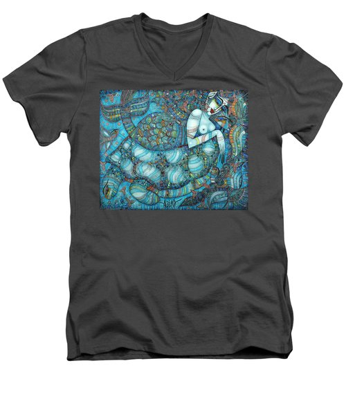 Beyond The Oceans... Men's V-Neck T-Shirt