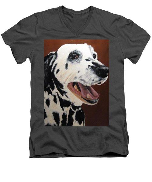 Bianca Rob's Dalmatian Men's V-Neck T-Shirt
