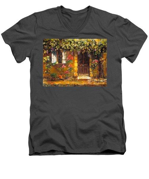 Bienvenue A' Provence Men's V-Neck T-Shirt