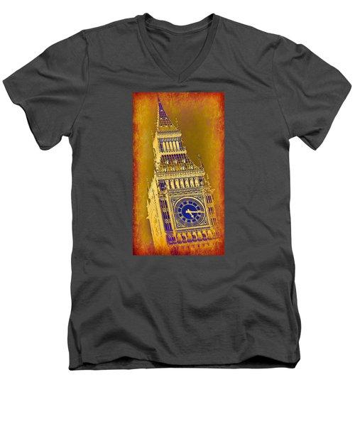 Big Ben 3 Men's V-Neck T-Shirt by Stephen Stookey
