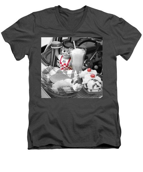 Big Boy In Black And White Men's V-Neck T-Shirt