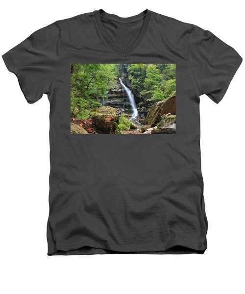 Big Bradley Falls Men's V-Neck T-Shirt