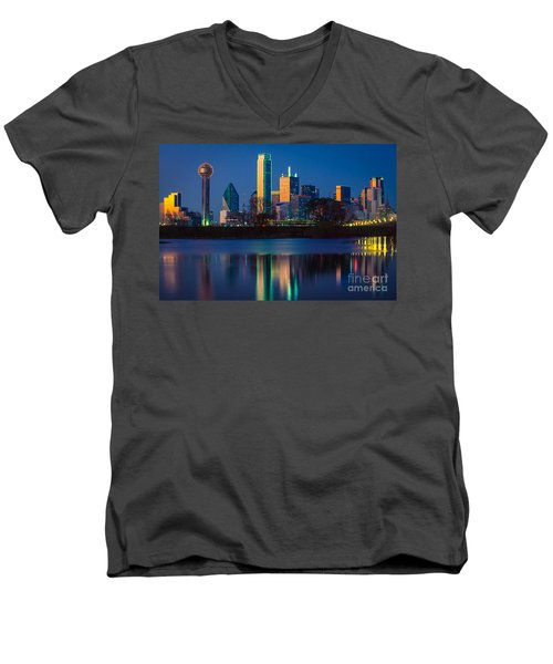 Big D Reflection Men's V-Neck T-Shirt