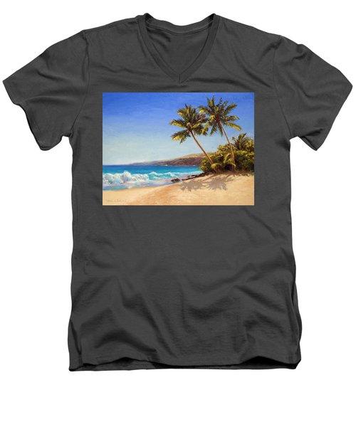 Hawaiian Beach Seascape - Big Island Getaway  Men's V-Neck T-Shirt