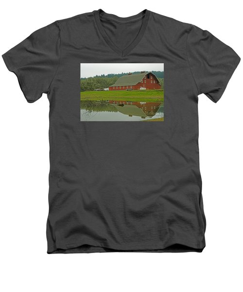 Men's V-Neck T-Shirt featuring the photograph Big Red by Nick  Boren