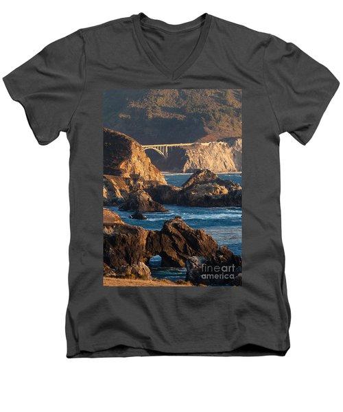 Big Sur Coastal Serenity Men's V-Neck T-Shirt