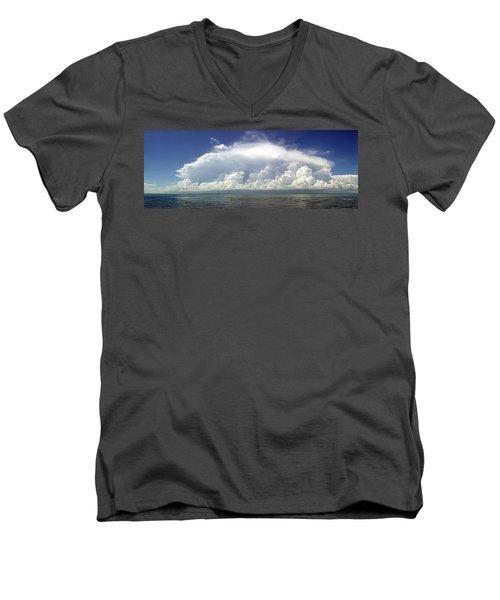 Big Thunderstorm Over The Bay Men's V-Neck T-Shirt