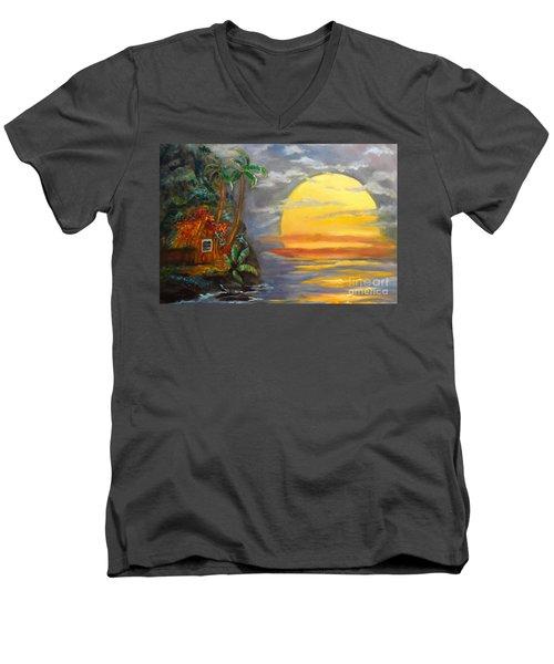 Magical Sunser Jenny Lee Discount Men's V-Neck T-Shirt