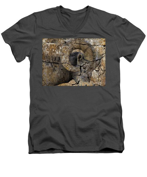 Bighorn Rock Art Men's V-Neck T-Shirt