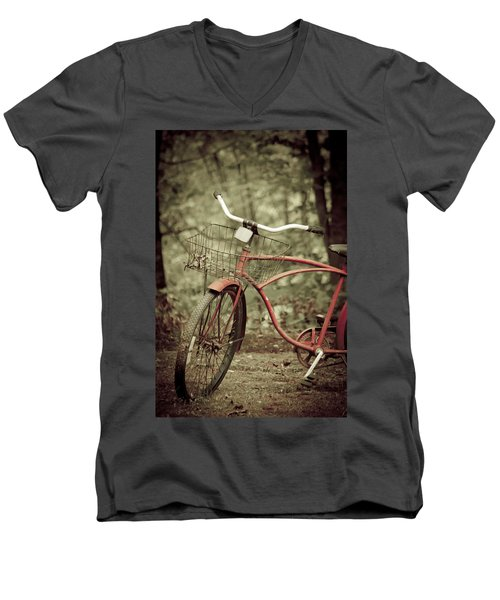 Bike Men's V-Neck T-Shirt by Shane Holsclaw