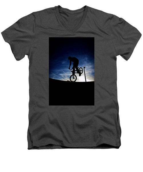 Bike Silhouette Men's V-Neck T-Shirt