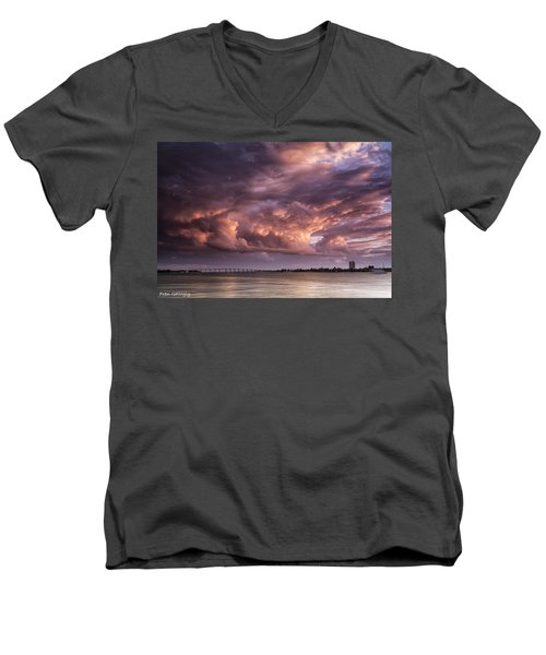 Billowing Clouds Men's V-Neck T-Shirt
