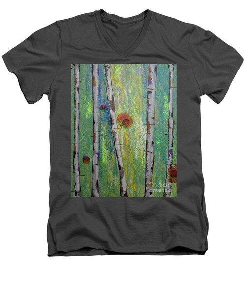 Birch - Lt. Green 5 Men's V-Neck T-Shirt