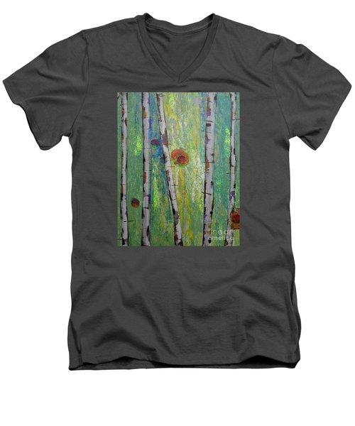 Birch - Lt. Green 5 Men's V-Neck T-Shirt