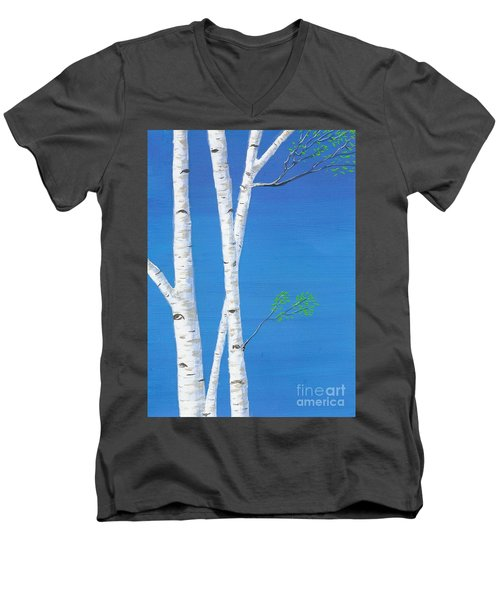 Birch Trees Men's V-Neck T-Shirt