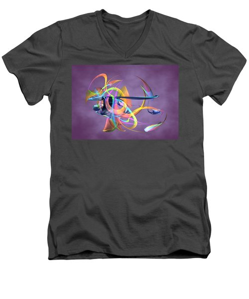 Bird-of-paradise - Abstract Men's V-Neck T-Shirt