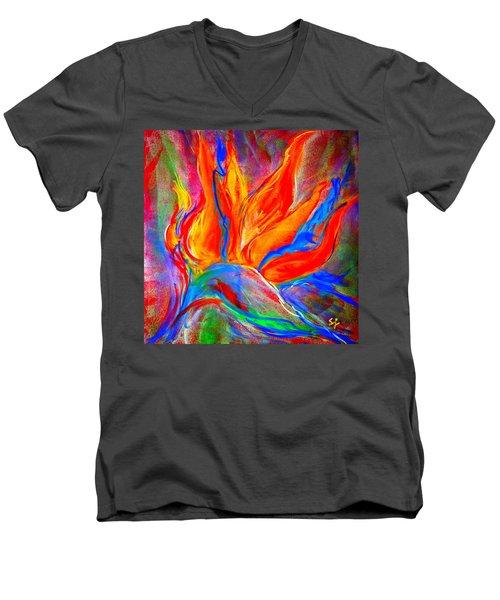Bird Of Paradise Flower Men's V-Neck T-Shirt