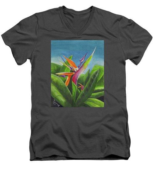 Hawaiian Bird Of Paradise Men's V-Neck T-Shirt