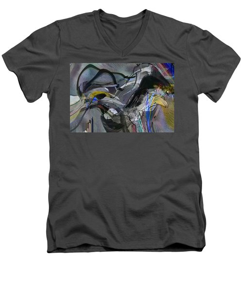 Men's V-Neck T-Shirt featuring the digital art Bird That Wept With Me by Richard Thomas