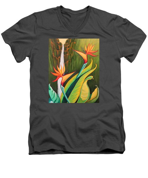 Birds Of Paradise Men's V-Neck T-Shirt
