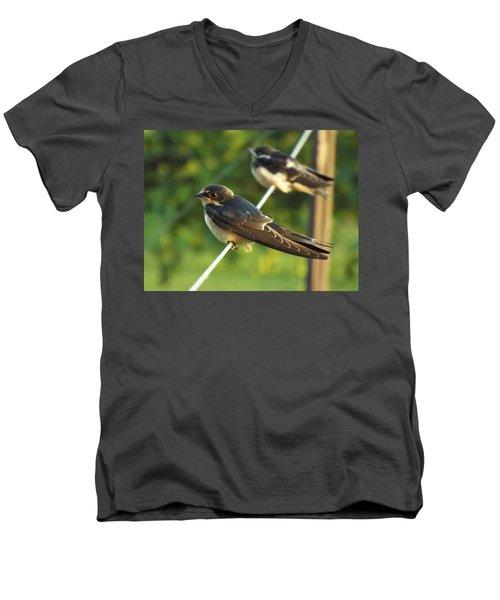 Birds On A Wire Men's V-Neck T-Shirt
