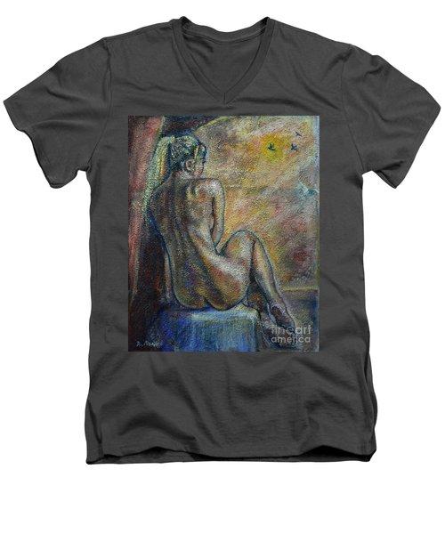Birds Men's V-Neck T-Shirt