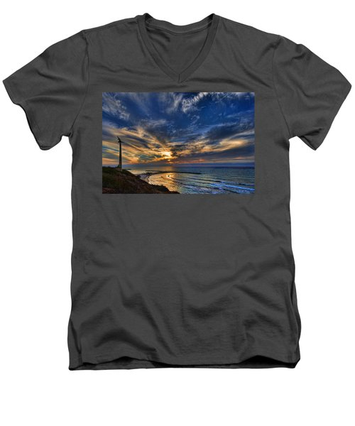 Men's V-Neck T-Shirt featuring the photograph Birdy Bird At Hilton Beach by Ron Shoshani