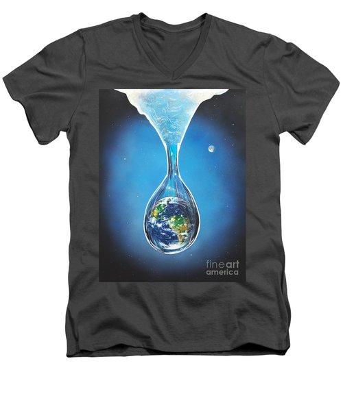 Birth Of Earth Men's V-Neck T-Shirt