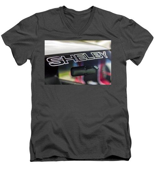Birthday Car - Shelby Windshield Men's V-Neck T-Shirt