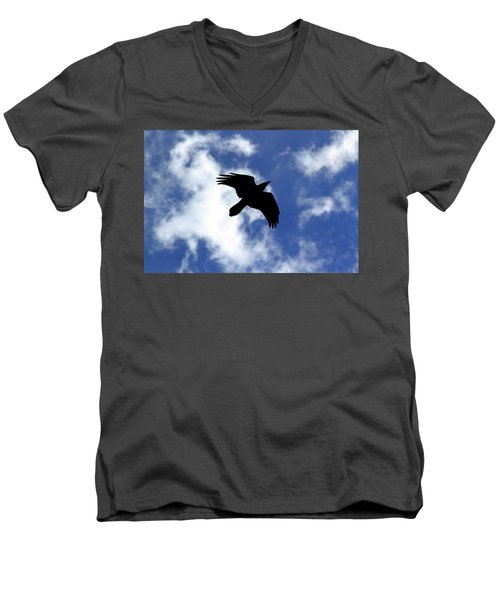 Black Above Men's V-Neck T-Shirt