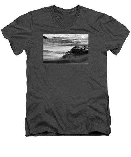Black And White Seascape Men's V-Neck T-Shirt