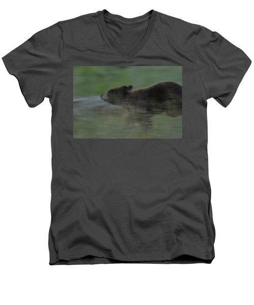 Black Bear Cub Men's V-Neck T-Shirt