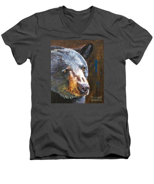 Black Bear The Messenger Men's V-Neck T-Shirt
