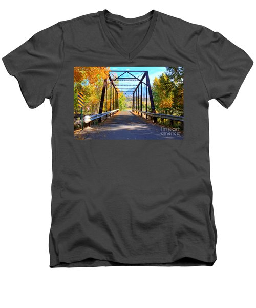 Black Bridge Men's V-Neck T-Shirt