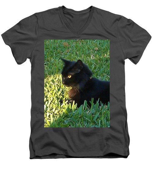 Black Cat Men's V-Neck T-Shirt