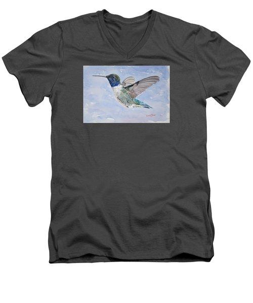 Da194 Black Chinned Hummingbird By Daniel Adams Men's V-Neck T-Shirt