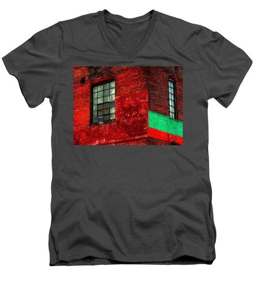 Black Kat Men's V-Neck T-Shirt