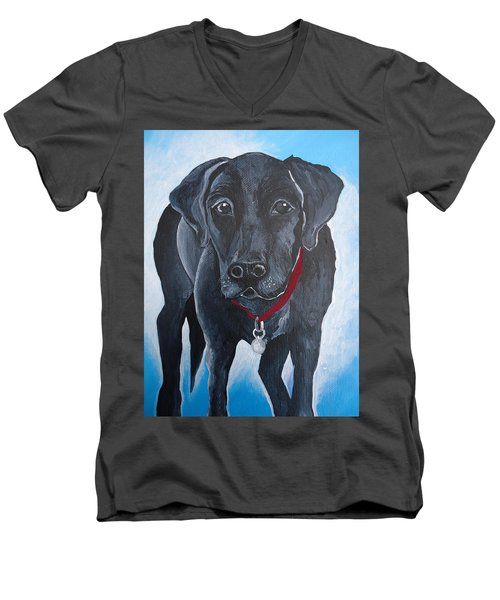 Black Lab Men's V-Neck T-Shirt